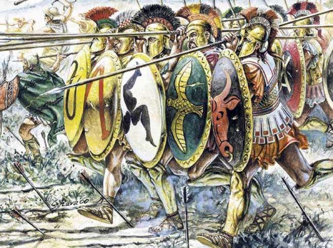 Греческие герои - побетилели Азии